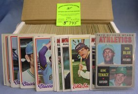 Box Of Early Topps Baseball Cards