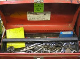 Box Full Of Tap And Dye Equipment Includes Metal Box
