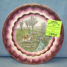 Early Fox Hunt Themed Collector's Plate