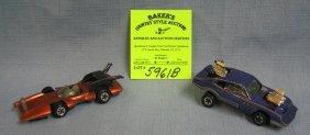 Pair Of Vintage Johnny Lightning Toy Cars