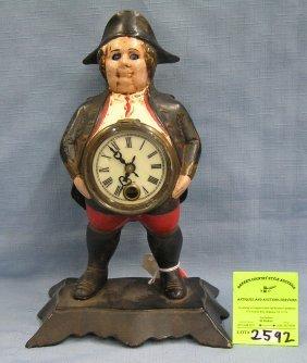 Cast Iron Continental Man Blinking Eye Clock