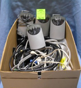 Large Box Of Electronics And Accessories