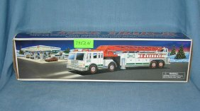 Vintage Hess Fire Truck With Original Box