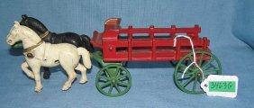 Early Cast Iron Horse Drawn Farm Cart