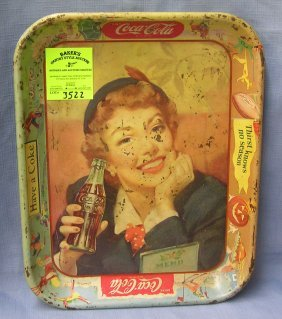 Coca Cola Advertising Tray
