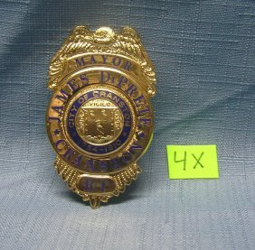 Vintage Mayor Of Rhode Island Badge