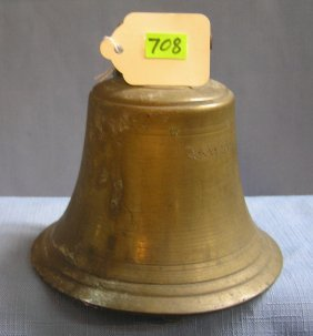 Antique Brass Fire Bell