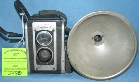 Vintage Kodak Duoflex 2 Camera And Flash Unit