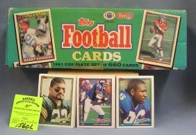 Box Full Of 1991 Topps Football Cards