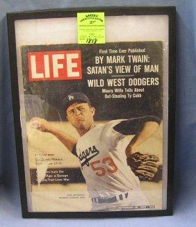 Vintage Life Magazine Featuring Don Drysdale
