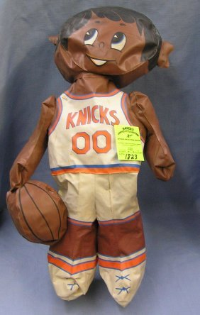 Early Ny Knicks Inflatable Basketball Mascot