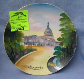 Vintage Us Capital Collectors Plate