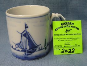 Vintage German Blue Willow Cup