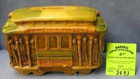 Vintage Porcelain San Francisco Trolley Car