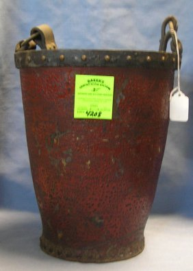 Great Early Leather Antique Fire Bucket