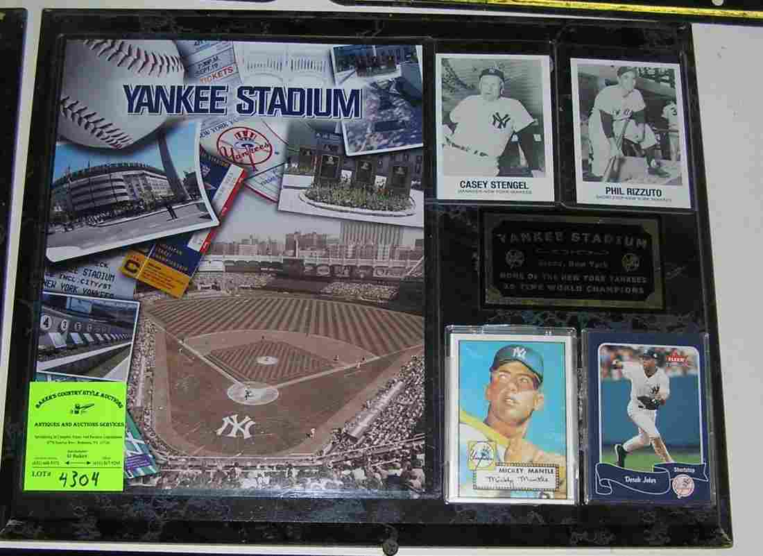 Vintage Yankees stadium wall plaque