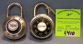 Pair Of Vintage Combination Locks