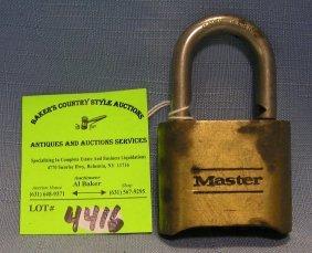 Vintage Solid Brass Master Combination Lock