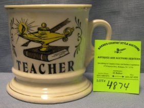 Vintage Shaving Mug Titled Teacher