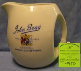 John Begg Whiskey Advertising Pitcher
