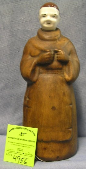 Early Figural Monk With Beer Mug Beer Or Liquor