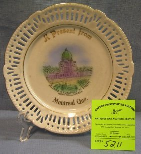 Souvenir Dish From Montreal Made In Germany