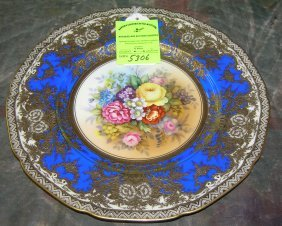 Floral Decorated Serving Plates By Meiton China