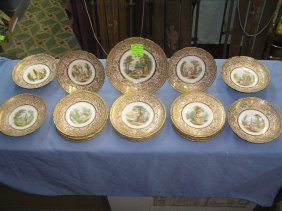 French Limoges Victorian Decorated Serving Set