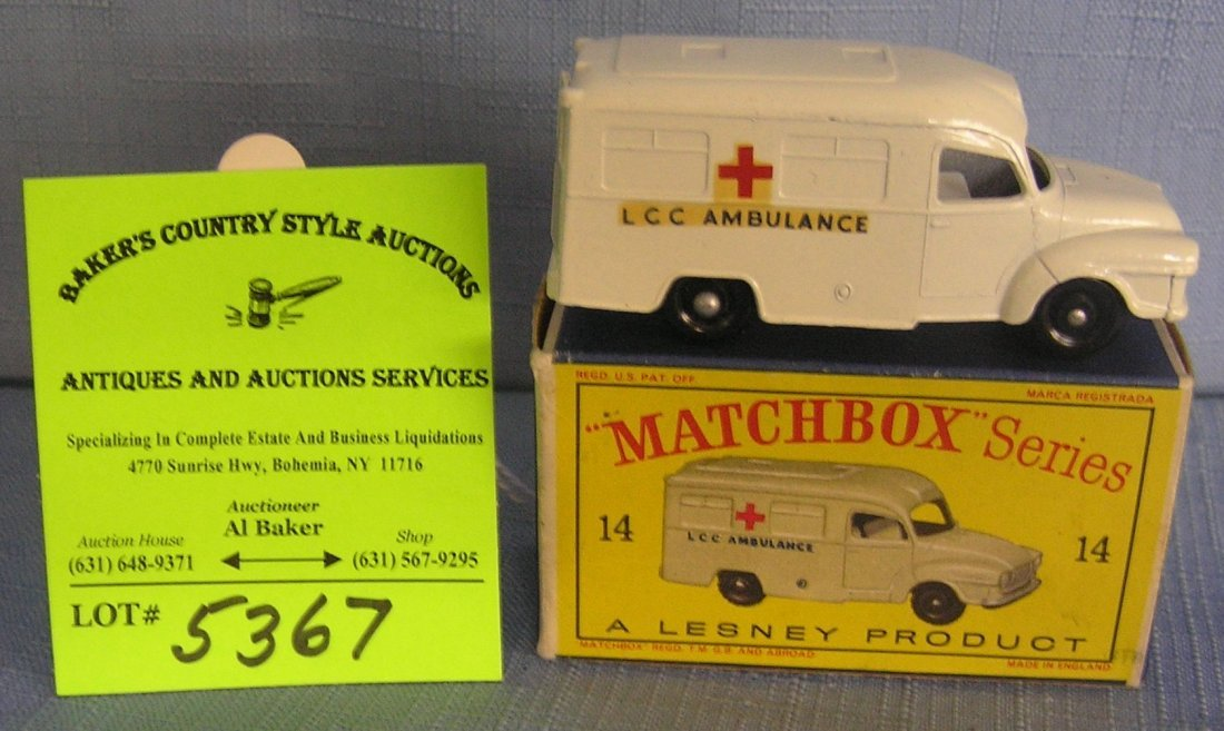 Vintage Matchbox ambulance mint in original box