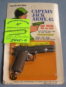Captain Jack Army Cap Pistol Mint On Card