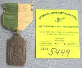 Early Policeman's Handgun Award Medal And Ribbon
