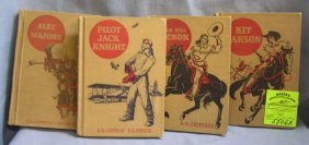 Group Of 4 Early American Hero Adventure Novel Books