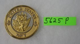 Us Navy Bronze Medal With Silver Highlights