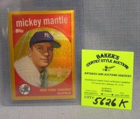Mickey Mantle Refractor Reprint Baseball Card