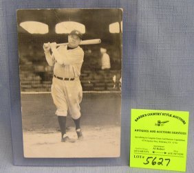 Early Babe Ruth Photo Postcard