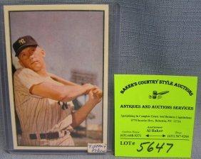 Bowman Mickey Mantle Reprint Baseball Card