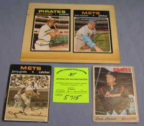 Topps All Star Baseball Cards With Autographs