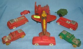 Group Of Vintage And Antique Rubber Toys