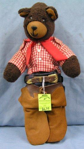 Early Western Dressed Bear Doll