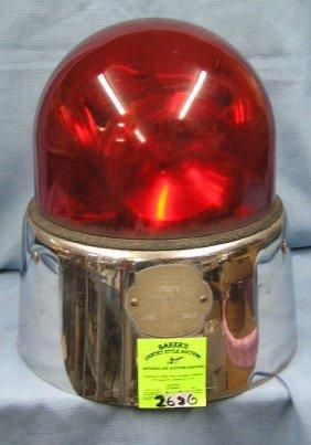 Vintage Police Car Lighted Flashing Signal Light