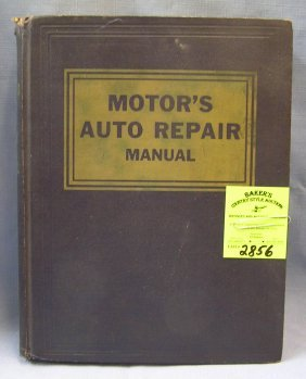 Early Motor's Auto Repair Manual 19th Edition