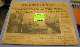 Vintage Ny Times With Gorbachev Cover