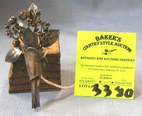 Antique Sterling Silver Designer Signed Brooch