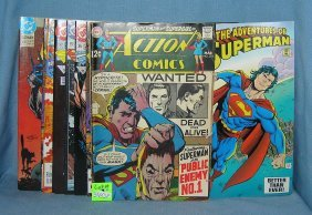Vintage And Modern Superman Comic Books