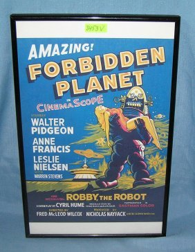 Forbidden Planet Framed Movie Poster
