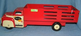 Antique Tin Delivery Truck By Wyandotte Toys