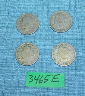 Group Of Early Us Nickels 1887-1908