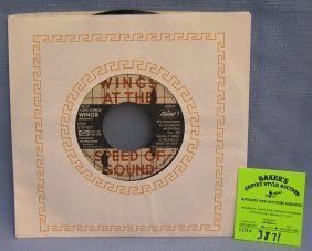Paul Mccartney And Wings 45 Rpm Record