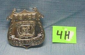 Vintage Dominican Republic Police Badge