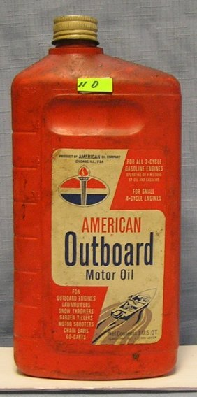 Vintage American Oil Co. Outboard Oil Container